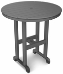 POLYWOOD® Round 36'' Counter Table - Slate Grey [RRT236GY-FS-PD]