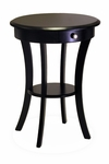 Round Accent Table with One Drawer and Shelf [20227-FS-WWT]