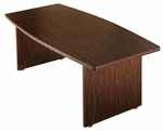 Customizable Rectangular or Boat-Shaped American Conference Table - 30''H [PT-619-BKS]