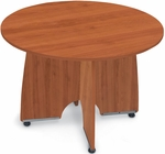 43'' Round Meeting Table - Cherry Finish [55129-CHY-FS-MFO]