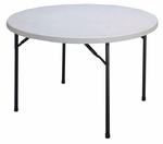 Economy Blow-Molded Round Plastic Top Folding Table - 48'' Diameter [CP48-33-CRL]