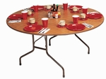 Round Fixed Height High-Pressure Top Folding Table - 48'' Diameter [CF48PX-CRL]