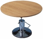 Round Hydraulic Work Table - 28.5 - 34''H [HAU-4335-FS-HAUS]