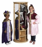 Birch Hardwood Dress Up Carousel with 2 Full-Length Mirrors and Storage Bins [ELR-0702-ECR]