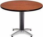 42'' Round Metal Mesh Base Multi-Purpose Table - Cherry [KMT42RD-CHY-MFO]