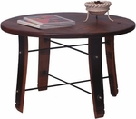 Round Stave Coffee Table [4065-FS-2DAY]