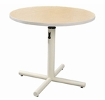 Round Therapy Table with Gas Spring-Assist Adjustment [GPP-360-ADAS]