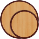 24'' Round Two-Tone Resin Cherry Table Top with Mahogany Edge