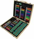 Royal Langnickel Art Adventure Set with Wooden Carrying Case and Assorted Art Supplies - 131 Piece