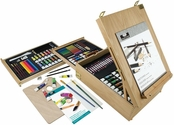 Royal Langnickel Essentials Mixed Media Easel Artist Set with Wooden Carrying Case/Easel and Assorted Art Supplies - 150 Piece
