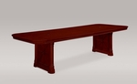 Rue De Lyon 10' Rectangular Conference Table - Ruby Cabernet [7684-120-FS-DMI]