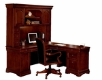 Rue De Lyon 66'' W Right Computer L Desk - Ruby Cabernet [7684-48A-FS-DMI]