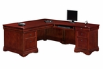 Rue De Lyon72'' W Right Computer L Desk - Ruby Cabernet [7684-55A-FS-DMI]