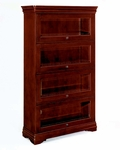 Rue De Lyon Four Door Barrister Bookcase - Ruby Cabernet [7684-06-FS-DMI]