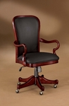 Rue De Lyon Gooseneck Arm Desk Chair - Ruby Cabernet [7684-841-FS-DMI]