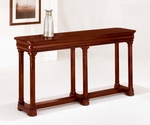Rue De Lyon Sofa and Console Table - Ruby Cabernet [7684-82-FS-DMI]