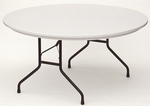 RX-Series Blow-Molded Tamper Resistant Round Folding Table - 60'' Diameter [RX60R-CRL]