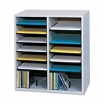 Safco Adjust Organizer -19 1/2'' x 11 3/4'' x 20'' -16 Compartment -Gray [SAF9422GR-FS-SP]