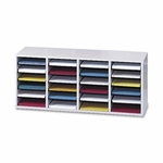 Safco Adjust Organizer -39 3/8'' x 11 3/4'' x 16 3/8 -24 Compartment -Gray [SAF9423GR-FS-SP]