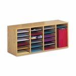 Safco Adjust Organizer -39 3/8'' x 11 3/4'' x 16 3/8 -24 Compartment -Oak [SAF9423MO-FS-SP]