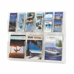 Safco Products Company Display Rack - 6 Pamphlet/3 Magazine - 30'' x 2'' x 22 1/5'' - Clear [SAF5605CL-FS-SP]