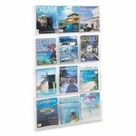 Safco Literature Rack - 12 Pockets Magazine - 30'' x 2'' x 49'' - Clear [SAF5602CL-FS-SP]