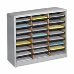 Safco Literature Sorter -24 Compartments -32 1/4'' x 13 1/2'' x 25 3/4'' -GY [SAF7111GR-FS-SP]
