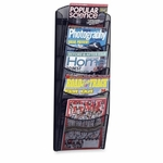 Safco Mesh Magazine Rack -5 Pockets -10 1/4'' x 3 1/2'' x 28'' -Black [SAF5578BL-FS-SP]