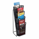 Safco Pamphlet Display - Mesh - 4 Pockets - 5 1/4'' x 7'' x 16 1/2'' - Black [SAF5641BL-FS-SP]