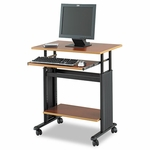 Safco® 28 Wide Adjustable Height Workstation,22''D x 34''H,Cherry Laminate [SAF1925CY-FS-NAT]