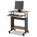 Safco® Adjustable Height Workstation - 29-1/2 x 22d x 34h - Cherry/Black [SAF1925CY-FS-NAT]