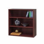 Safco® Apres Open Bookcase - Three-Shelf - 29-3/4w x 11-3/4d x 29-3/4h - Mahogany [SAF9440MH-FS-NAT]