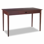 Safco® Apres Table Desk,  48''W x 24''D x 30''H,  Mahogany [SAF9446MH-FS-NAT]
