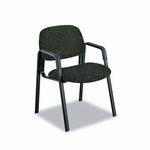 Safco® Cava Urth Collection Straight Leg Guest Chair,Black [SAF7046BL-FS-NAT]