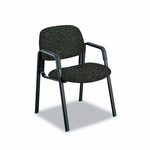 Safco® Cava Urth Collection Straight Leg Guest Chair - Black [SAF7046BL-FS-NAT]