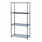 Safco® Commercial Wire Shelving - Four-Shelf - 36w x 18d x 72h - Black [SAF5276BL-FS-NAT]
