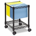 Safco® Compact Mobile Wire File Cart - One-Shelf - 15-1/2w x 14d x 19-3/4h - Black [SAF5277BL-FS-NAT]