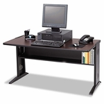 Safco® Computer Desk W/ Reversible Top - 47-1/2w x 28d x 30h - Mahogany/Medium Oak/Black [SAF1931-FS-NAT]