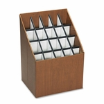 Safco® Corrugated Roll Files - 20 Compartments - 15w x 12d x 22h - Woodgrain [SAF3081-FS-NAT]
