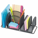 Safco® Deluxe Organizer - Six Compartments - Steel - 12 1/2 x 5 1/4 x 5 1/4 [SAF3251BL-FS-NAT]
