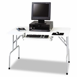 Safco® Folding Computer Table - Rectangular - 47 1/2w x 29 3/4d x 28 3/4h - Light Gray [SAF1935GR-FS-NAT]