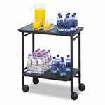 Safco® Folding Office/Beverage Cart,2-Shelf,26''W x 15''D x 30''H,Black [SAF8965BL-FS-NAT]