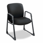 Safco® Uber Series Big & Tall Sled Base Guest Chair - Black [SAF3492BL-FS-NAT]