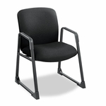 Safco® Guest Chair,  Big & Tall,  Black [SAF3492BL-FS-NAT]