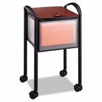 Safco® Impromptu Locking File Cart,20-1/4''W x 21-1/2''D x 30-3/4''H,Black [SAF5374BL-FS-NAT]