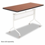 Safco® Impromptu Mobile Training Table Top,  Rectangular,  48''W x 24''D,  Cherry [SAF2065CY-FS-NAT]
