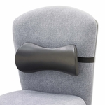 Safco® Lumbar Support Memory Foam Backrest - 14-1/2w x 3-3/4d x 6-3/4h - Black [SAF7154BL-FS-NAT]