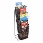 Safco® Onyx Mesh Counter Display - Four Compartments - 5-1/4w x 7d x 16-1/2h - Black [SAF5641BL-FS-NAT]