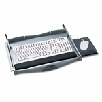 Safco® Premium Keyboard Drawer - 23-1/4w x 20-1/4d - Charcoal [SAF2213-FS-NAT]