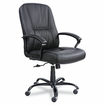 Safco® Serenity Big & Tall High-Back Chair,Black Leather [SAF3500BL-FS-NAT]